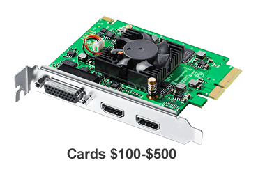 Shop capture cards $100 - $500