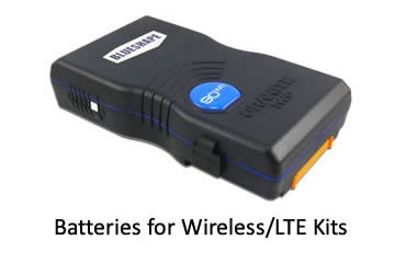 Wireless LTE powered batteries