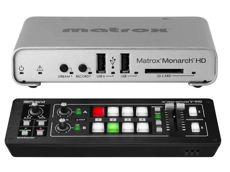 Roland V-1HD Video Switcher With Matrox Monarch HD Bundle