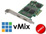 2-HDMI Input Capture Card with vMix Bundle