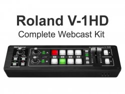 Roland V-1HD Video Switcher Complete Webcast Kit