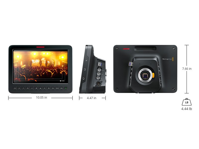 Blackmagic Studio Camera 4K specifications
