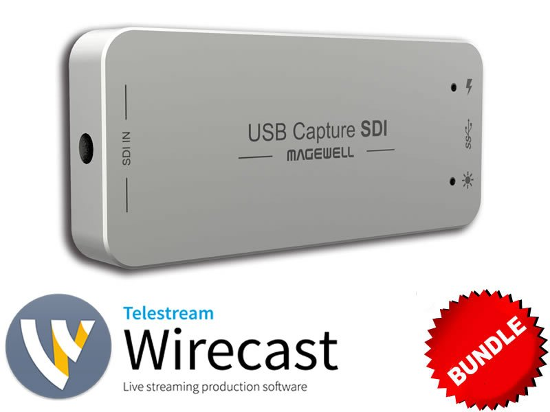 1-Input SDI USB Capture with Wirecast Windows Bundle