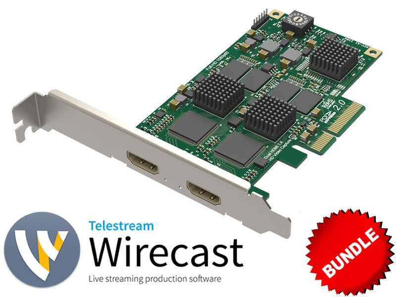 2-Input HDMI Capture + Wirecast Bundle