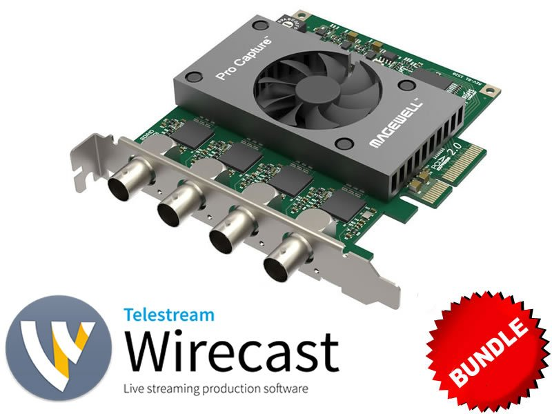 4-Input HDMI Capture + Wirecast Bundle