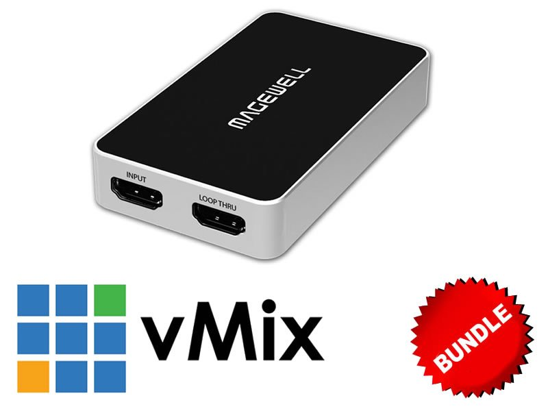 1-Input HDMI USB Capture + vMix HD Windows Bundle