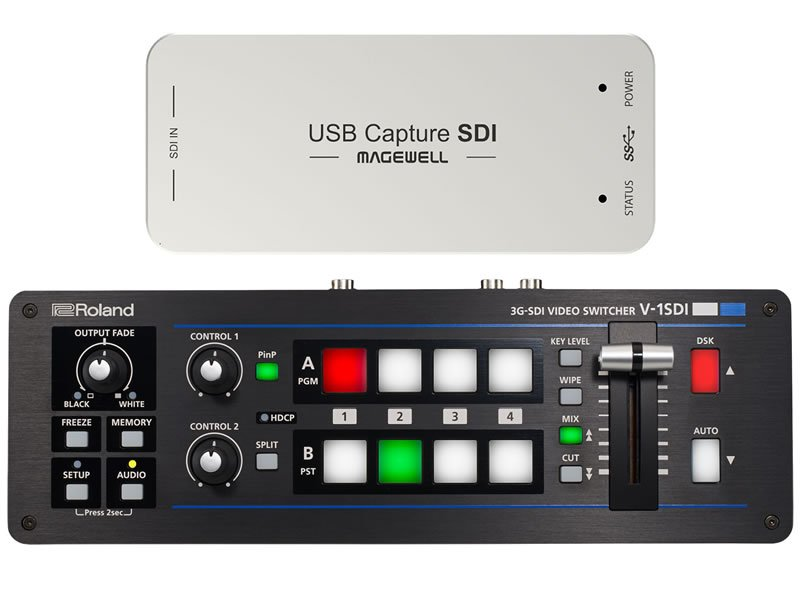 Roland V-1SDI Video Switcher with Magewell SDI Capture Bundle